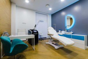 Кабинет клиники лазерной косметологии DELETE