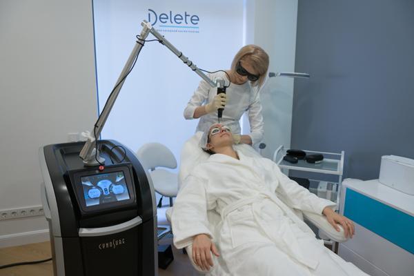 удаление морщин лазером в клинике DELETE